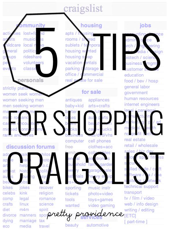 Craigslist Thanksgiving Dinner  5 Tips For Shopping Craigslist Pretty Providence