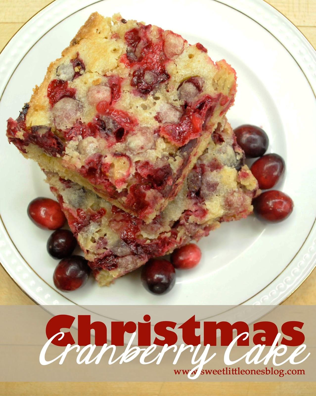 Cranberry Christmas Cake Recipe  Sweet Little es Christmas Cranberry Cake