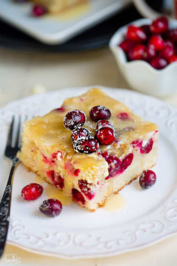 Cranberry Christmas Cake Recipe  Cranberry Christmas Cake with Butter Sauce Best easy dessert