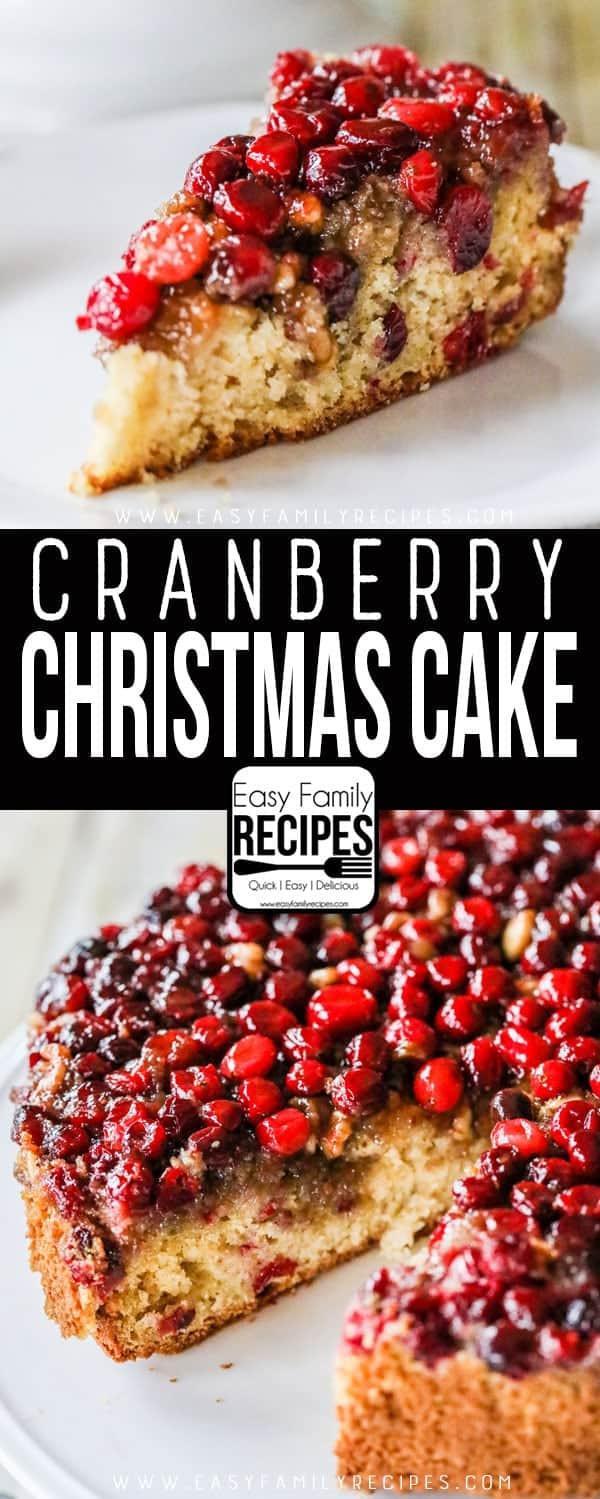 Cranberry Christmas Cake Recipe  Cranberry Christmas Cake · Easy Family Recipes