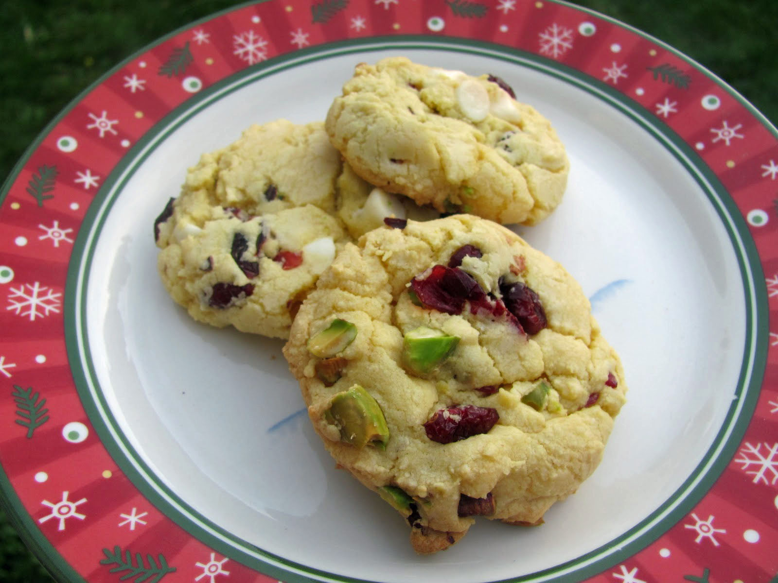 Cranberry Christmas Cookies  The Girly Girl Cooks Cranberry Pistachio Christmas