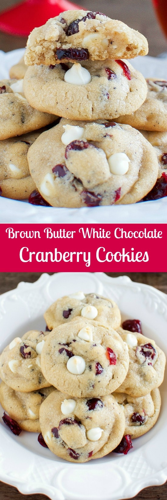 Cranberry Christmas Cookies  Best White Chocolate Cranberry Cookies Back for Seconds