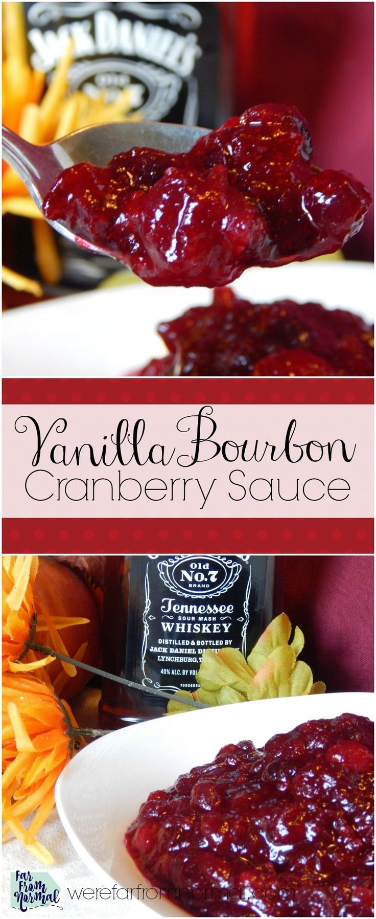 Cranberry Sauce Recipes For Thanksgiving  Vanilla Bourbon Cranberry Sauce