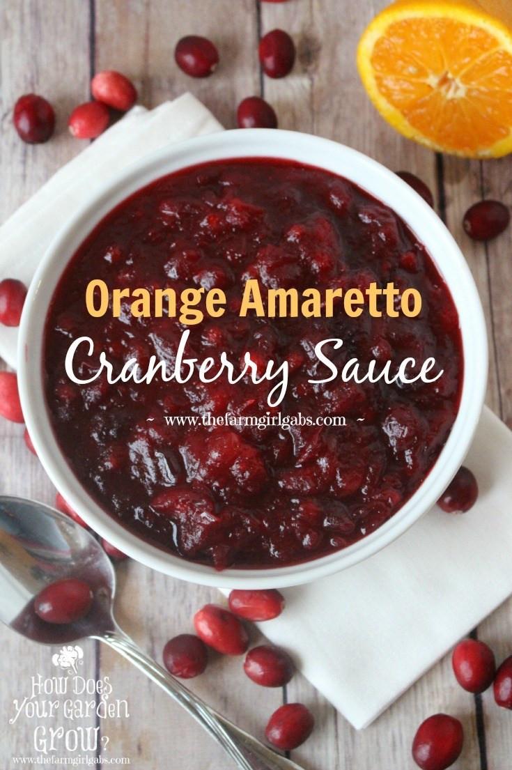 Cranberry Sauce Thanksgiving Side Dishes  Orange Amaretto Cranberry Sauce
