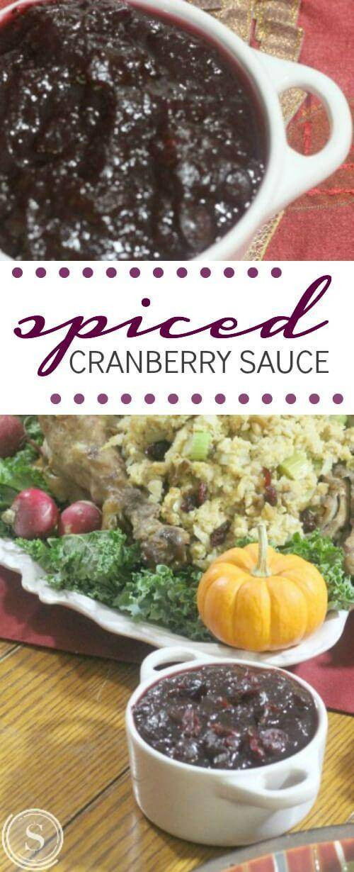 Cranberry Sauce Thanksgiving Side Dishes  Spiced Cranberry Sauce Recipe