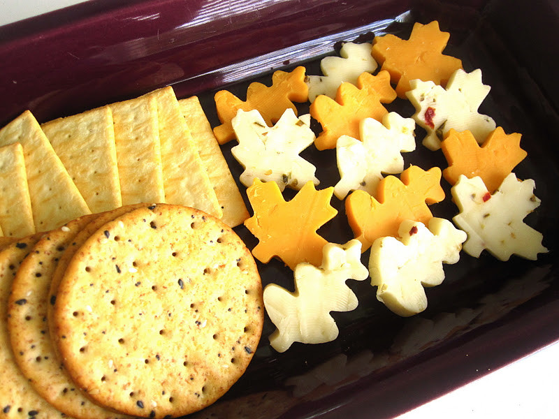 Creative Thanksgiving Appetizers  Autumn Leaf Cheese Platter Lindsay Ann Bakes