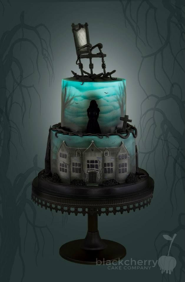 Creepy Halloween Cakes  Eerie Halloween Cake That Lights Up Inside Ha Ha Ha