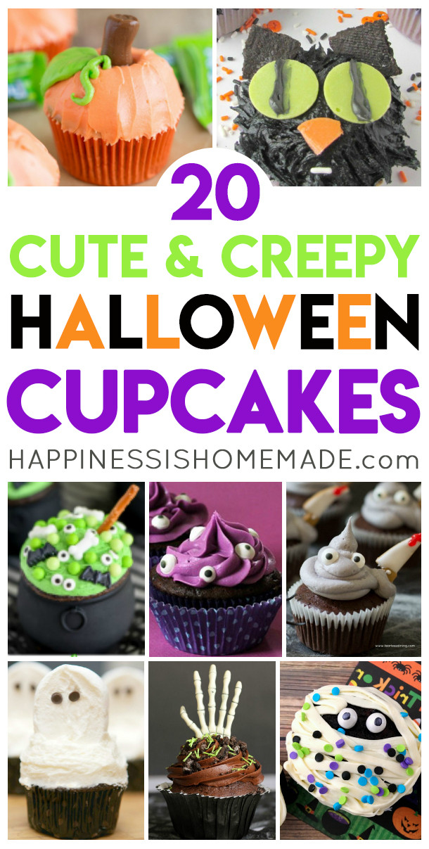Creepy Halloween Cupcakes  20 Cute & Creepy Halloween Cupcakes Happiness is Homemade