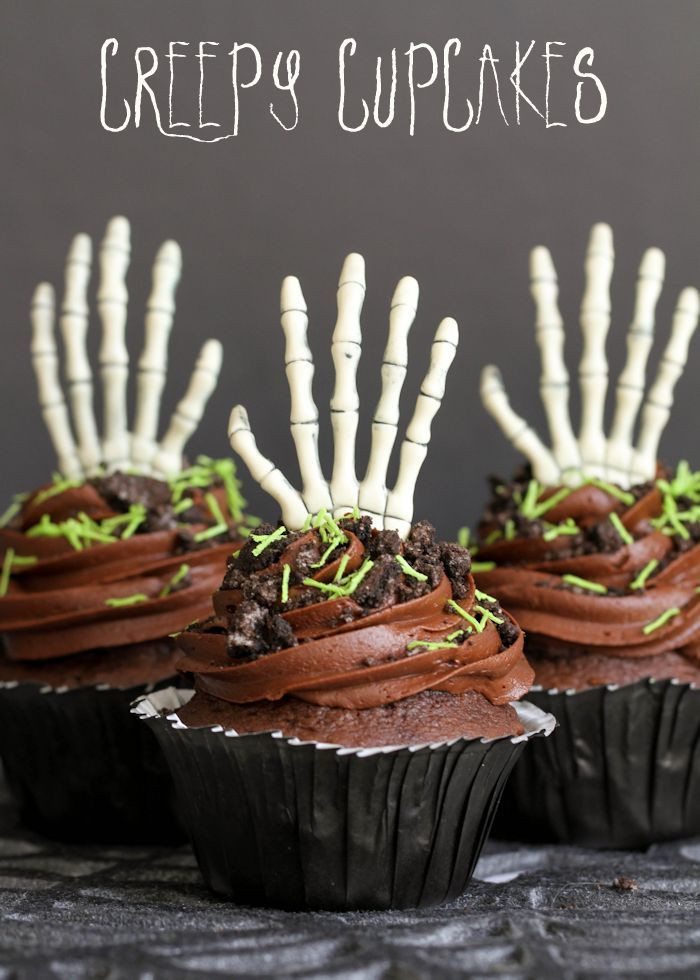 Creepy Halloween Cupcakes  Creepy Halloween Cupcakes Eighteen25