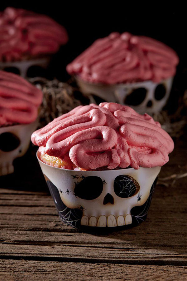 Creepy Halloween Cupcakes  A collection of creepy cupcakes for Halloween