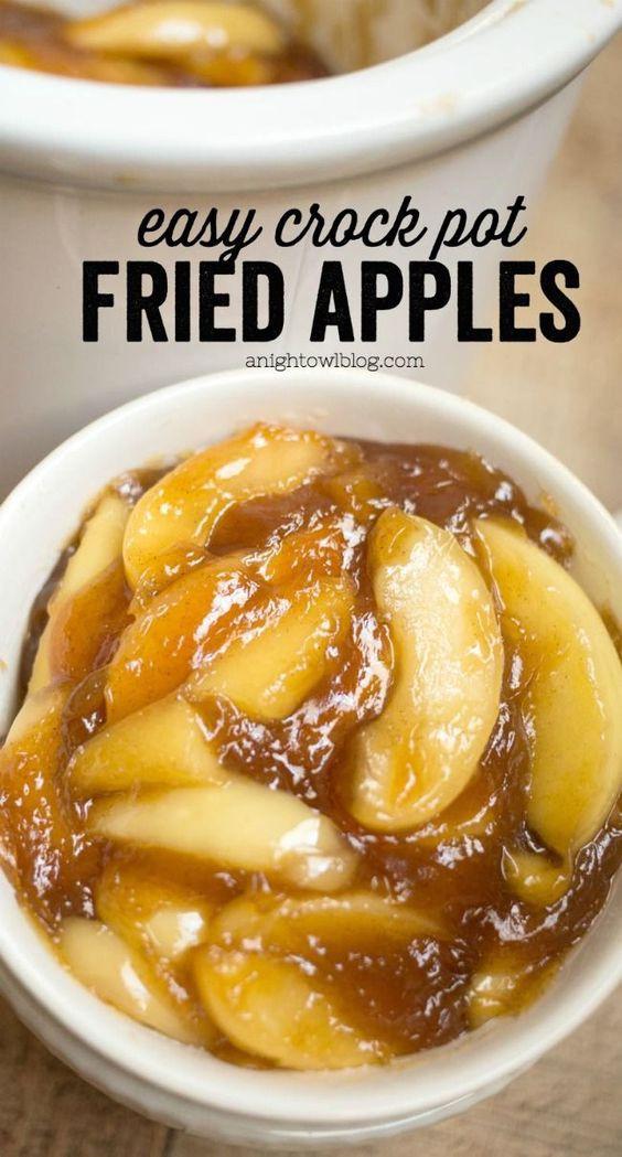 Crock Pot Thanksgiving Side Dishes  Easy Crock Pot Fried Apples Recipe