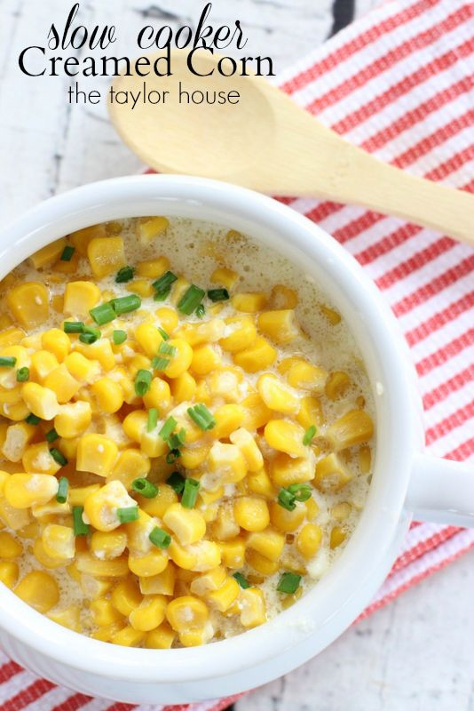 Crock Pot Thanksgiving Side Dishes  Slow Cooker Creamed Corn