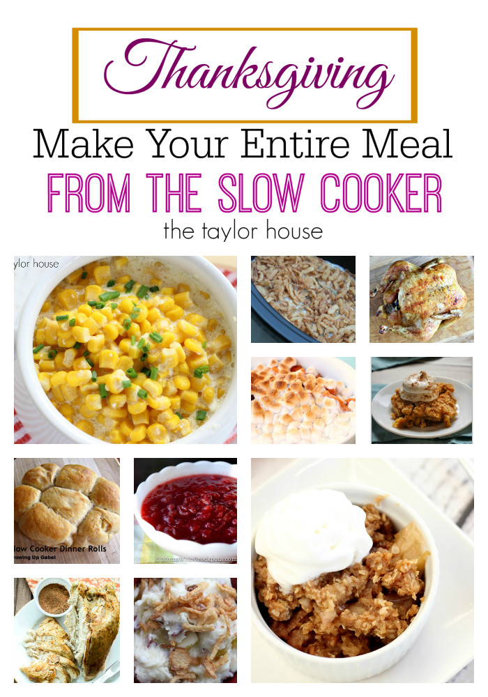 Crockpot Side Dishes For Thanksgiving  Thanksgiving Slow Cooker Recipes