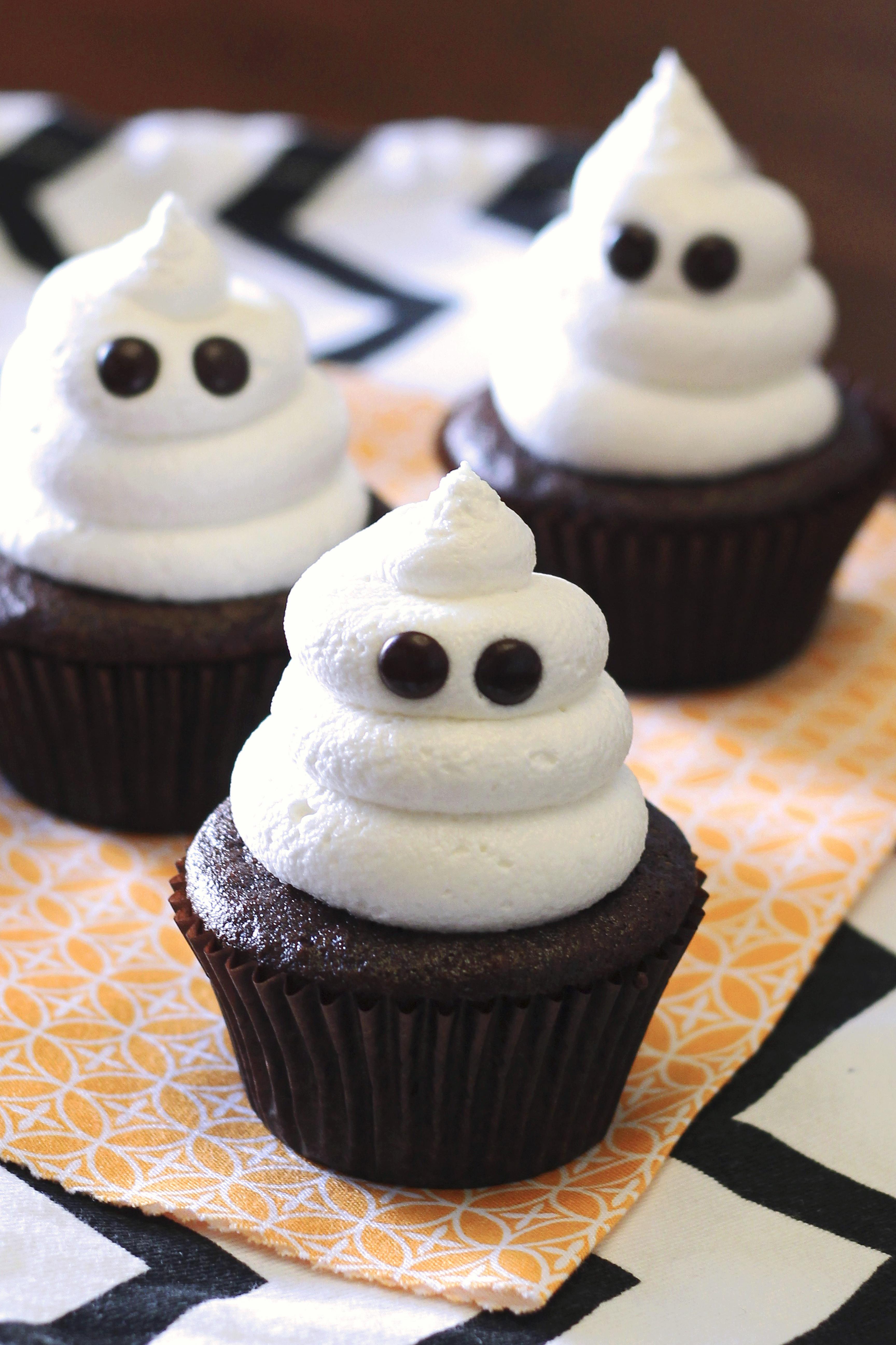 Cupcakes For Halloween  gluten free vegan ghost cupcakes Sarah Bakes Gluten Free