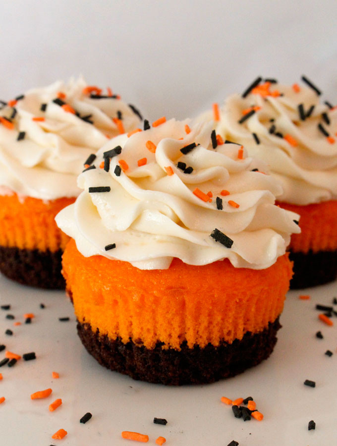 Cupcakes For Halloween  Brownie Cupcakes Two Sisters