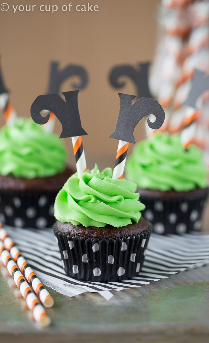 Cupcakes For Halloween  Wicked Witch Cupcakes Your Cup of Cake