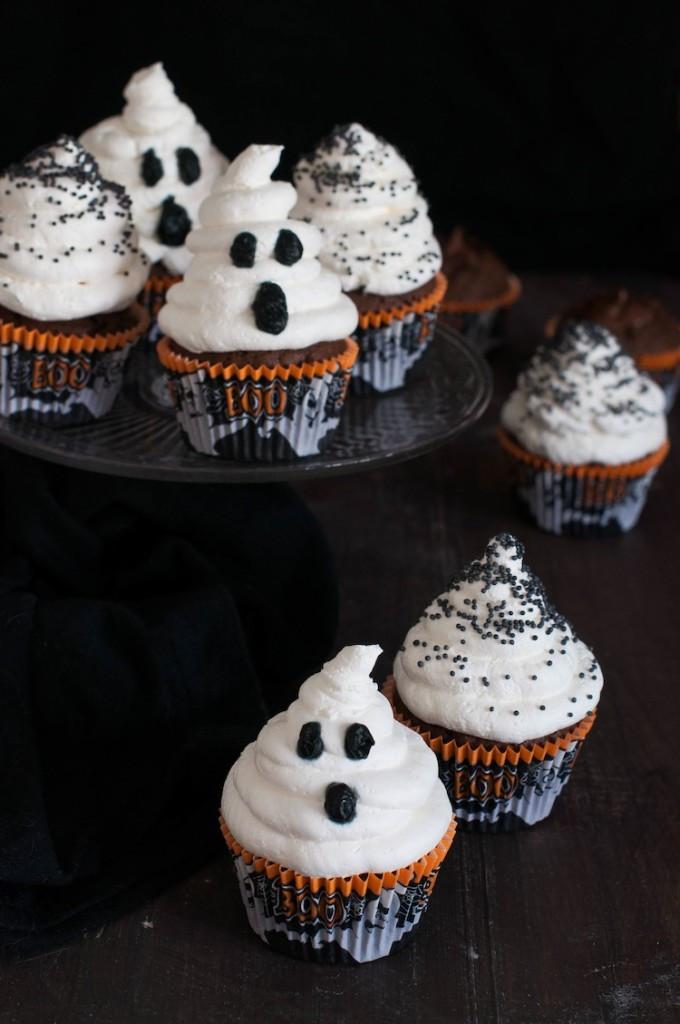 Cupcakes Para Halloween  Cupcakes de Cola Cao para Halloween