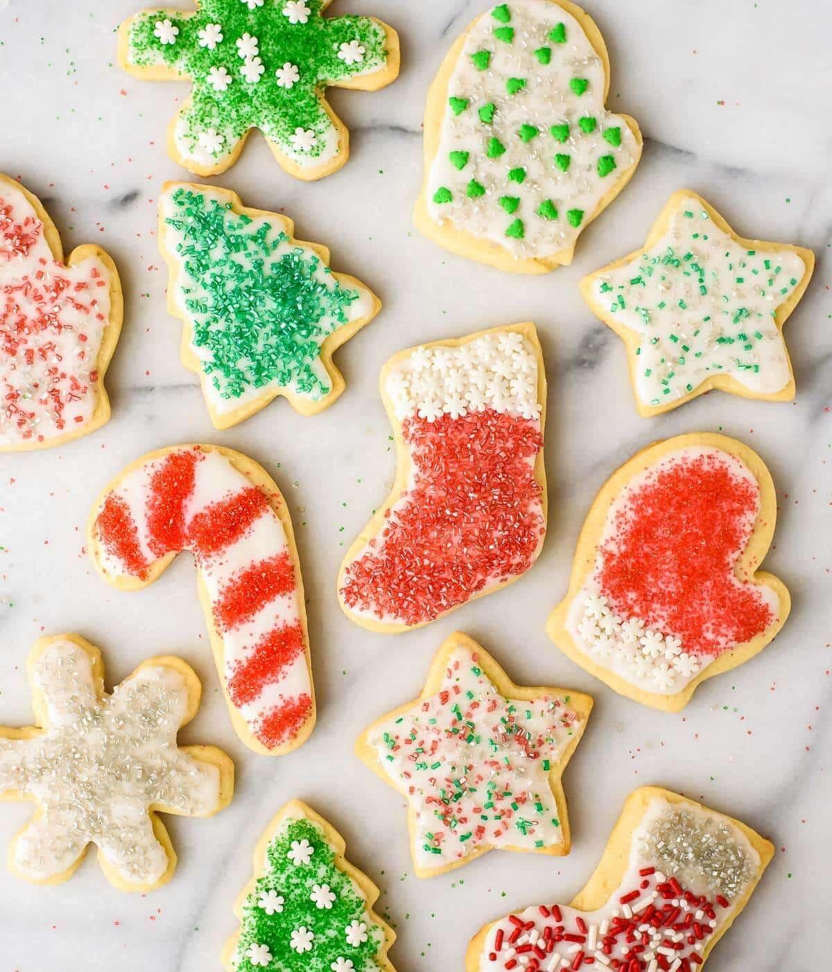 Cut Out Christmas Cookies  Cream Cheese Sugar Cookies Recipe