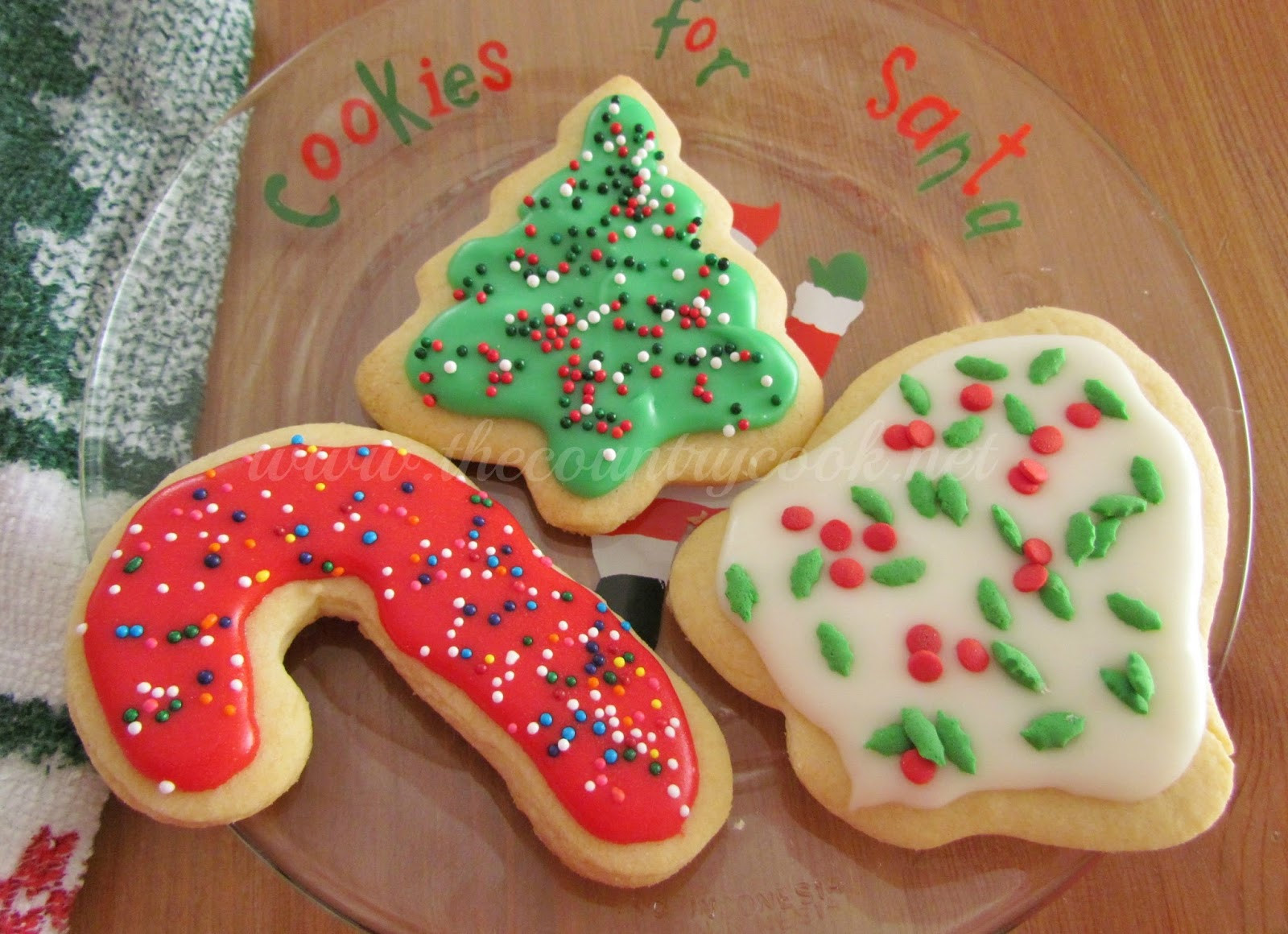 Cut Out Christmas Cookies  Cut Out Sugar Cookies The Country Cook