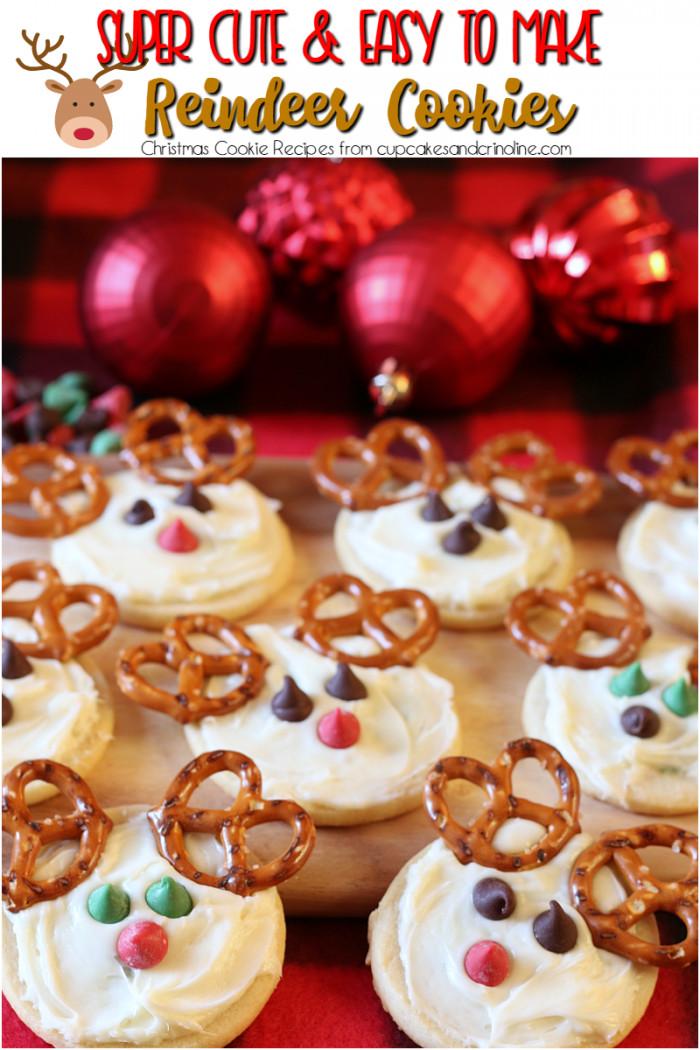 Cute Christmas Cookies Recipes  Cute Reindeer Cookies ⋆ Cupcakes and Crinoline