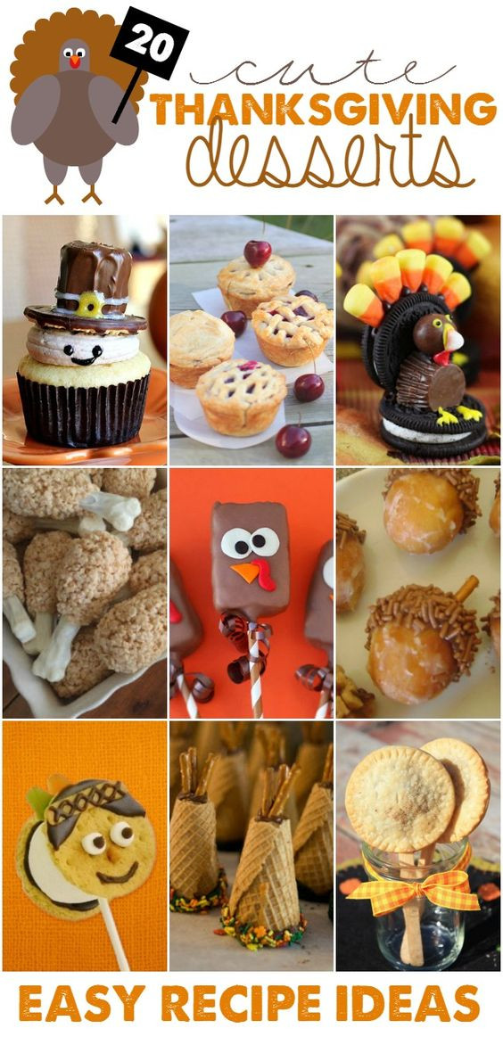 Cute Easy Thanksgiving Desserts  Cute Thanksgiving Desserts Easy Recipe Ideas