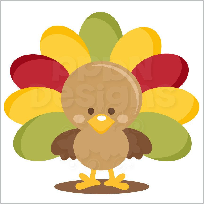 Cute Thanksgiving Turkey  PPbN Designs Cute Turkey Free for Basic and Deluxe
