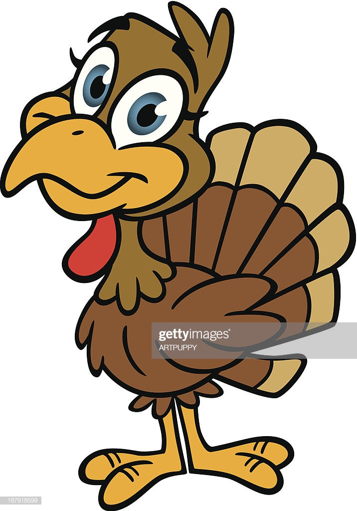 Cute Thanksgiving Turkey  Cute Thanksgiving Turkey Vector Art
