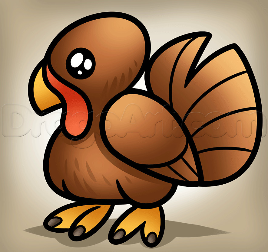 Cute Thanksgiving Turkey  How to Draw a Simple Turkey Step by Step Thanksgiving