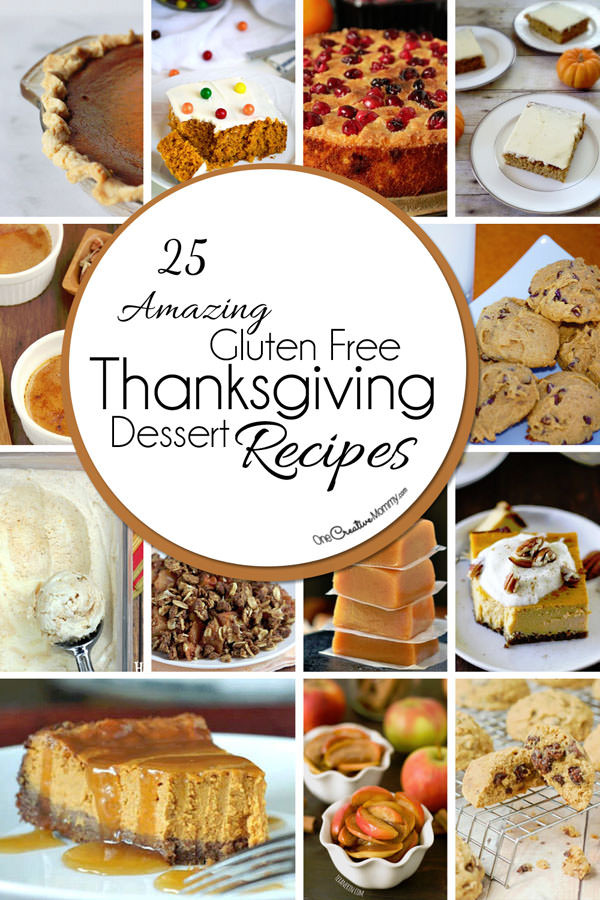 Dairy Free Thanksgiving Recipes  25 Gluten Free Thanksgiving Desserts onecreativemommy