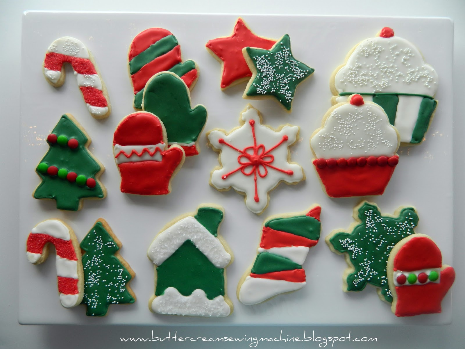 Decorating Christmas Cookies  Buttercream and a Sewing Machine Decorating Christmas Cookies