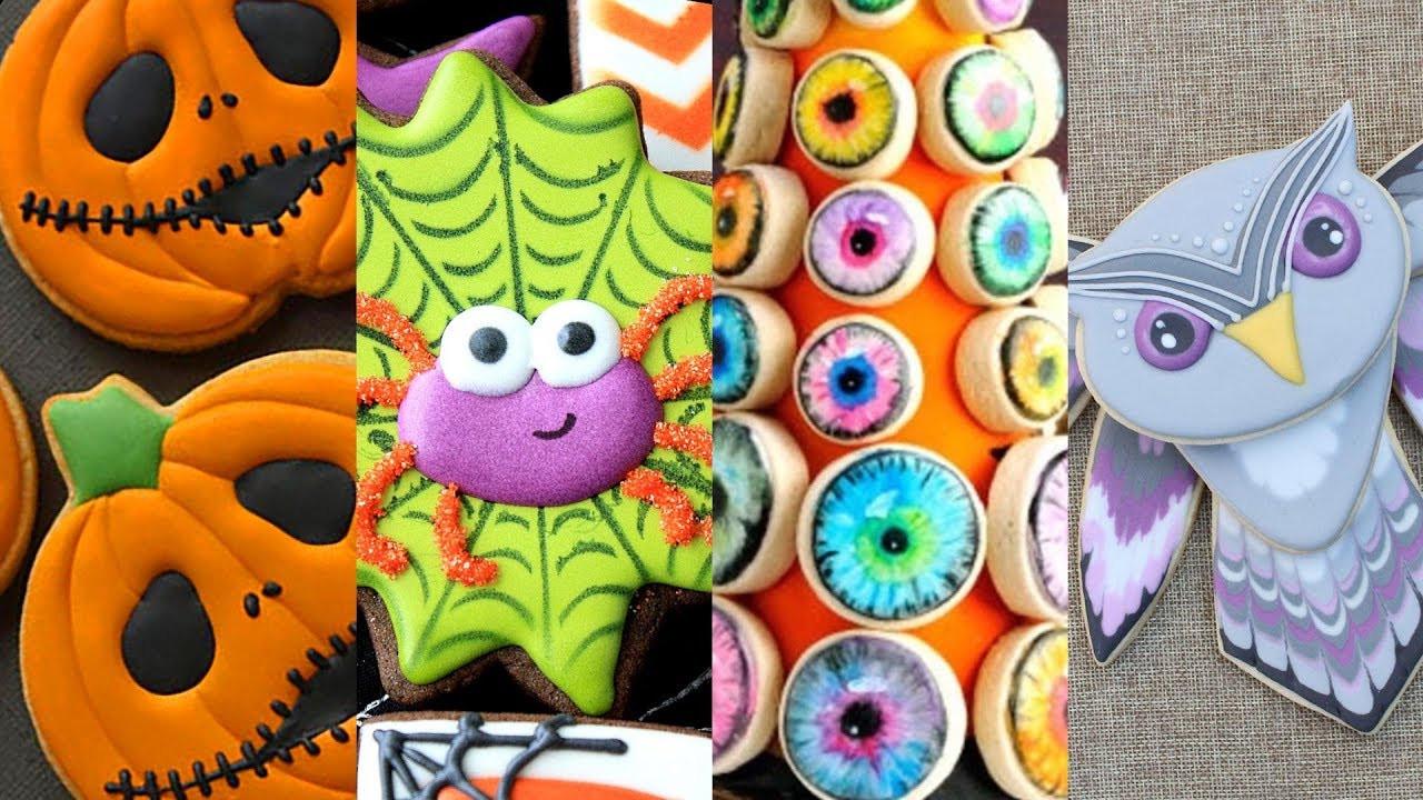 Decorating Halloween Cookies  BEST HALLOWEEN COOKIES Cookie Decorating Video