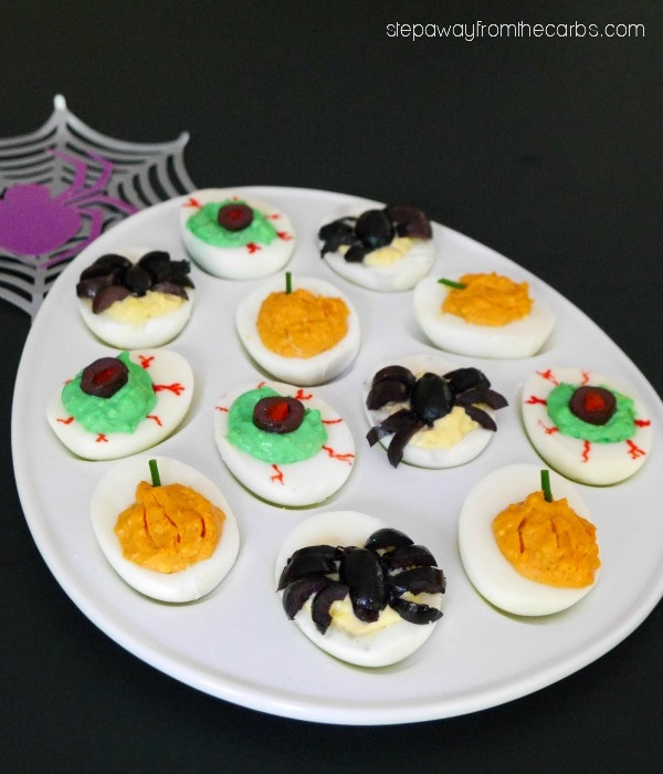 Deviled Eggs Halloween  21 Low Carb Halloween Recipes Gluten & Sugar free My