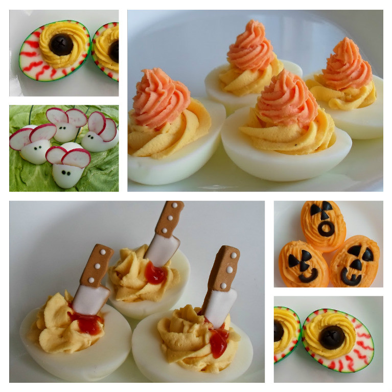 Deviled Eggs Halloween  Happier Than A Pig In Mud Batty for Halloween Deviled Eggs