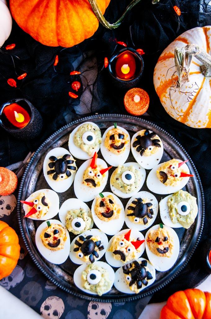 Deviled Eggs Halloween  Halloween Deviled Eggs Aberdeen s Kitchen