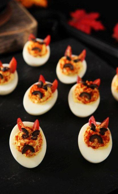Deviled Eggs Halloween  30 Creative Deviled Egg And Hard Boiled Egg Holiday Ideas