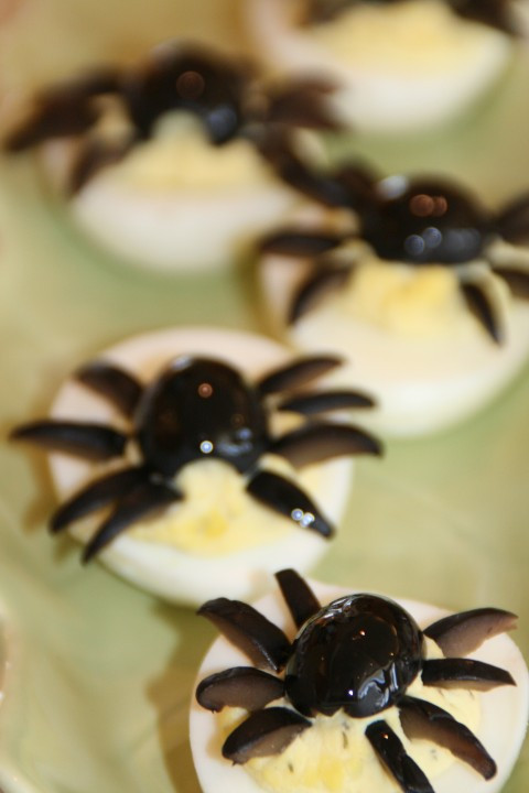 Deviled Eggs Spider Halloween  Deviled Spide Eggs for Halloween — Shockingly Delicious