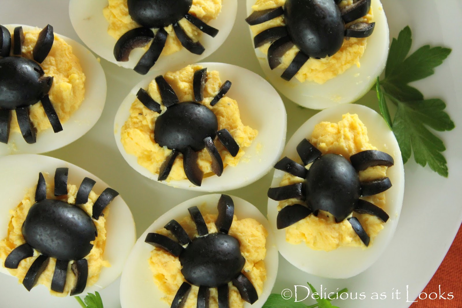 Deviled Eggs Spider Halloween  Halloween Spooky Spider Deviled Eggs Delicious as it Looks