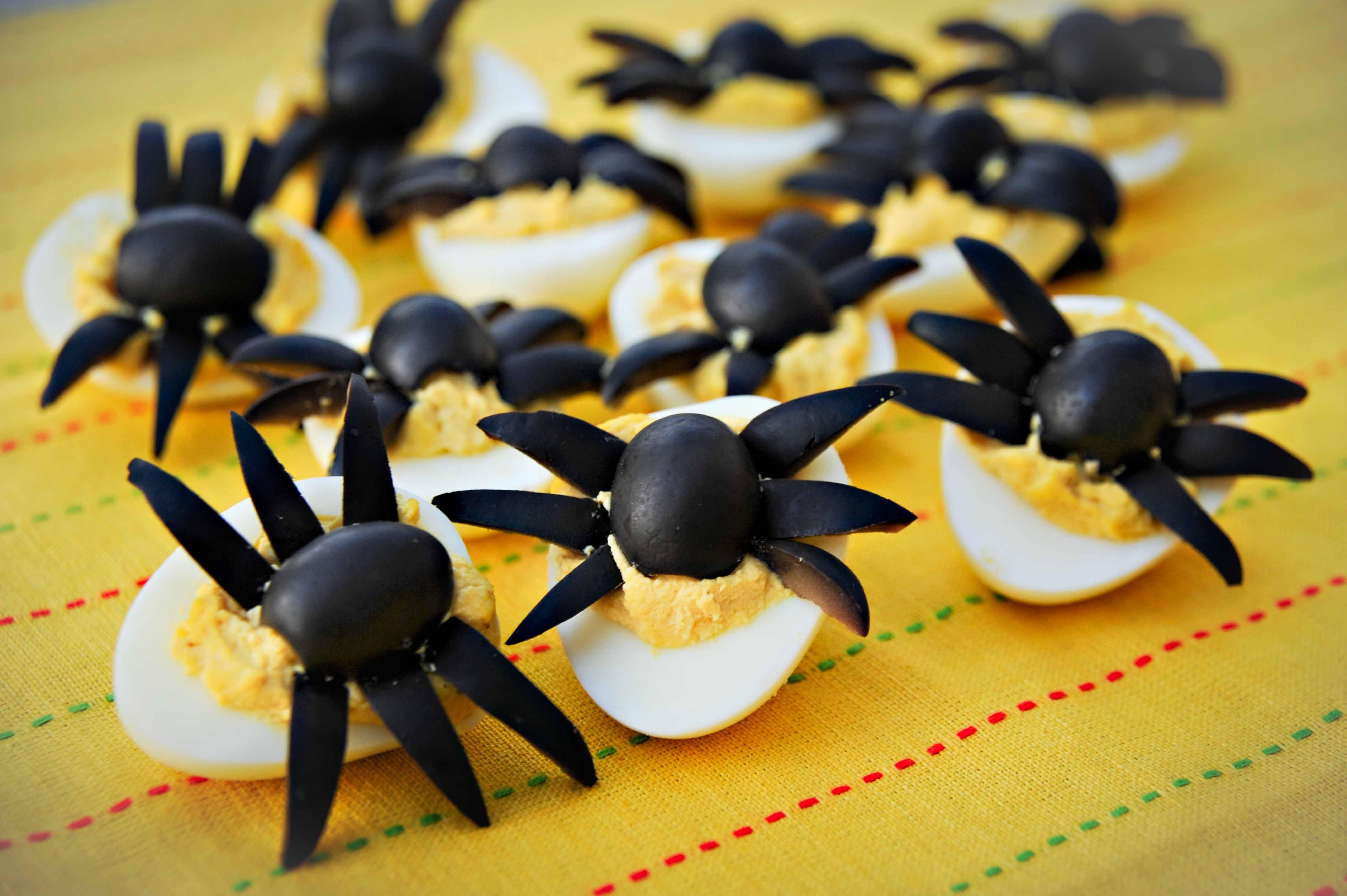 Deviled Eggs Spider Halloween  Halloween Spider Deviled Eggs Recipe – A Family Halloween