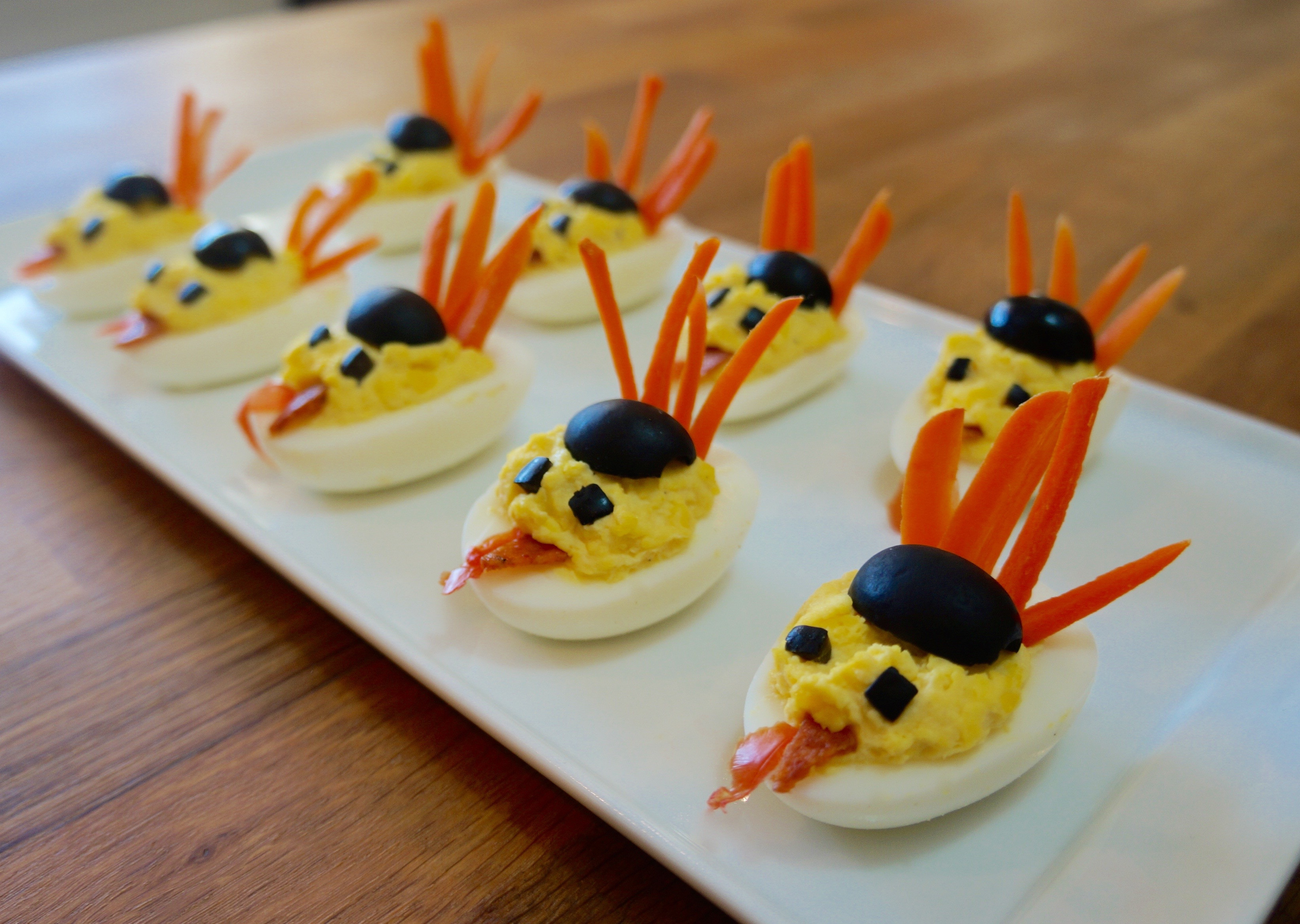 Deviled Eggs Thanksgiving  Turkey Deviled Eggs Flavor Finds