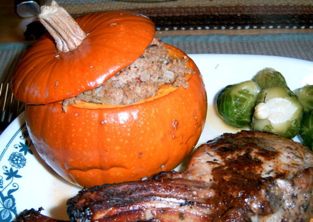Diabetic Thanksgiving Recipes  Stuffed Thanksgiving Pumpkins Diabetic Friendly Recipe