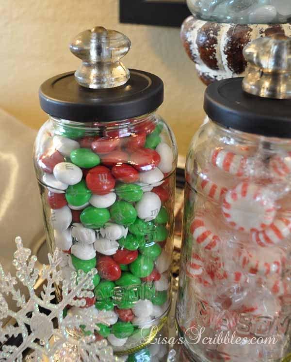 Diy Christmas Candy Decorations  DIY Christmas Candy Jars