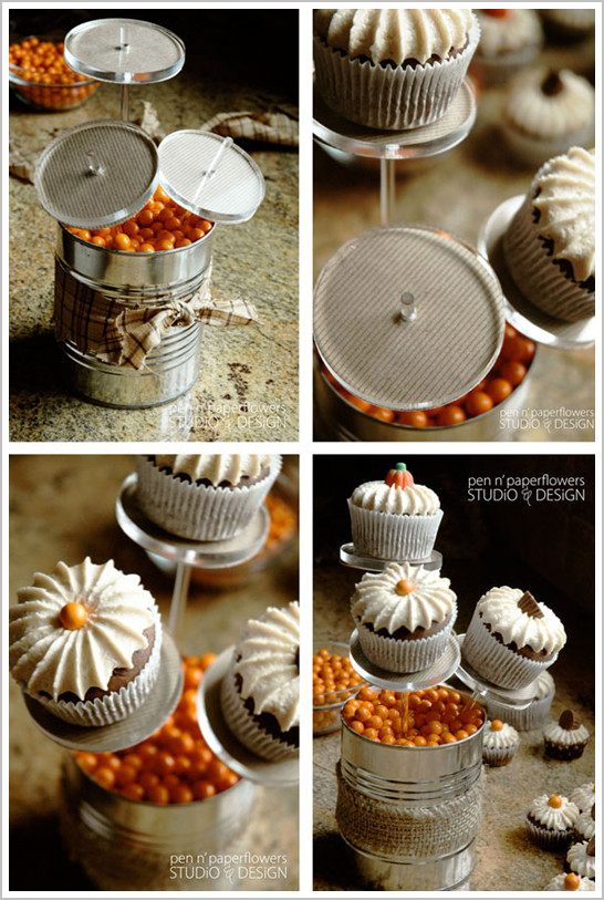 Diy Halloween Cupcakes  DIY Halloween Cupcake Centerpiece