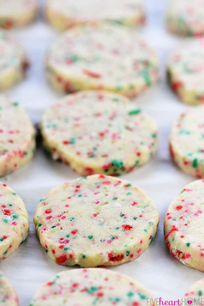 Easiest Christmas Cookies  Easy Christmas Shortbread Cookies • FIVEheartHOME