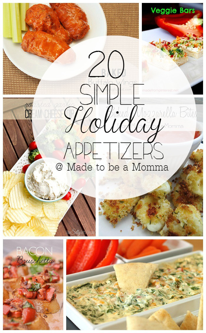 Easy Christmas Appetizers For A Crowd  20 Simple Holiday Appetizers Made To Be A Momma