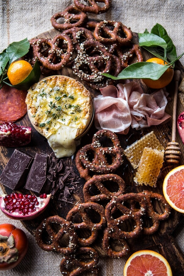 Easy Christmas Appetizers  Honey Baked Brie with Seasoned Pretzels EASY CHRISTMAS
