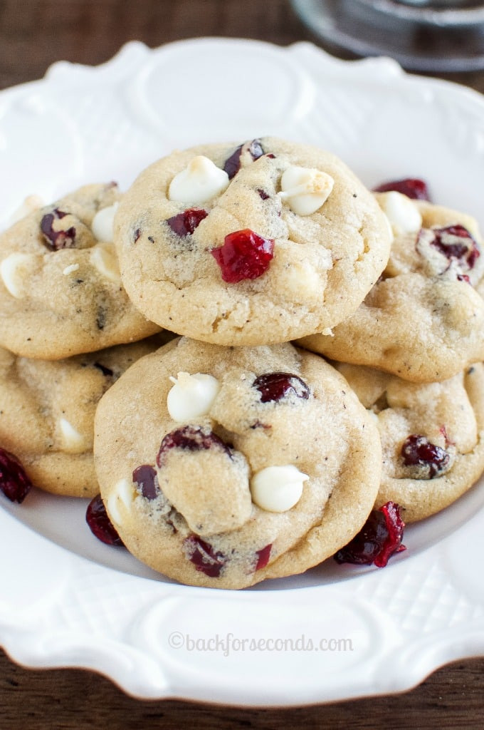 Easy Christmas Cookies And Candy  Best White Chocolate Cranberry Cookies Back for Seconds