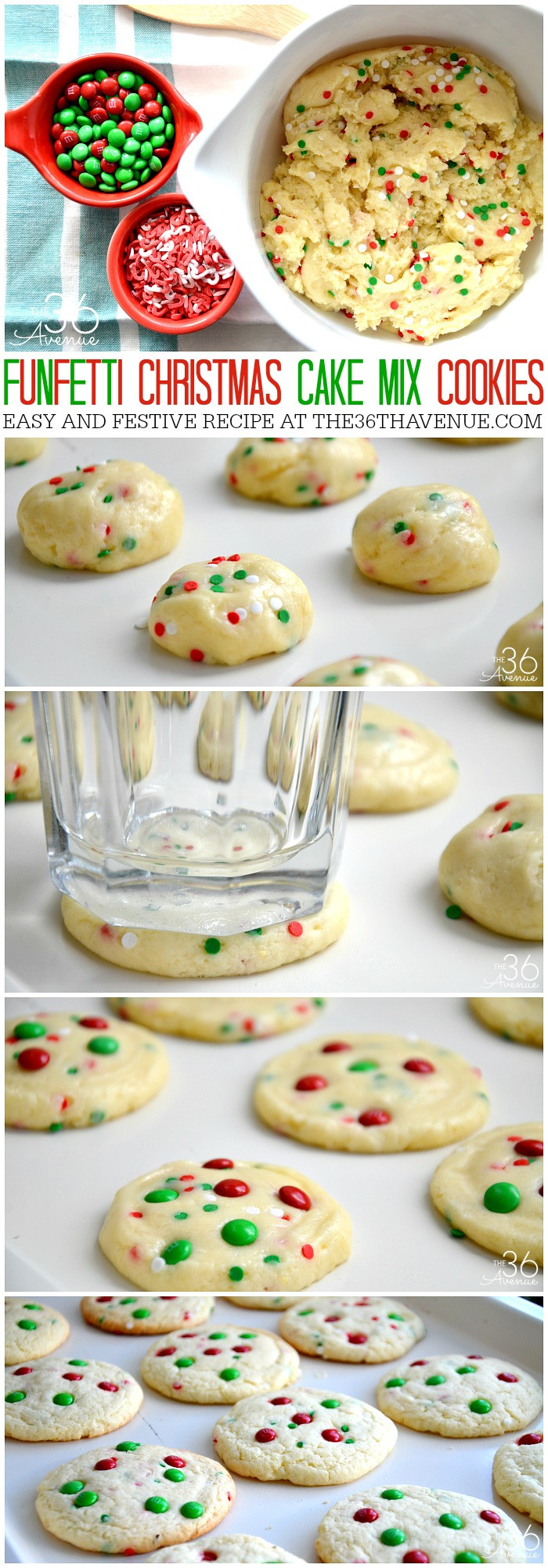 Easy Christmas Cookies  Christmas Cookies Funfetti Cookies The 36th AVENUE