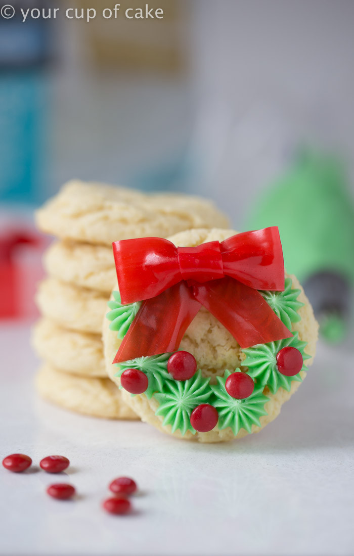 Easy Christmas Cookies  Easy Christmas Wreath Cookies Your Cup of Cake
