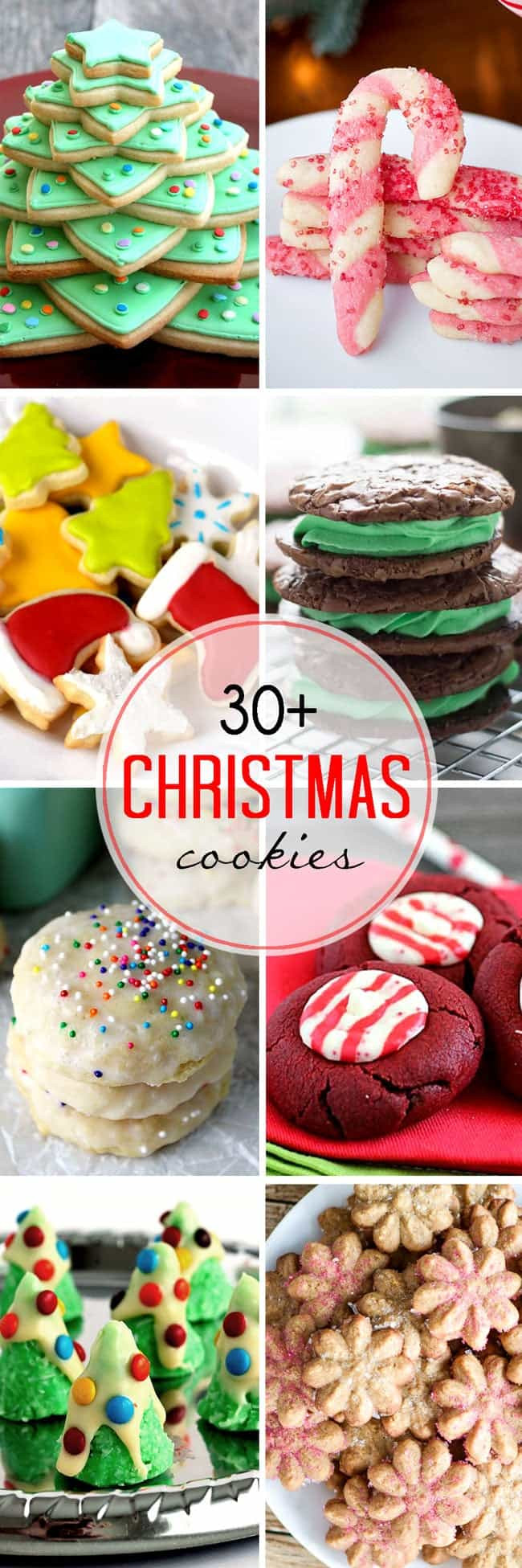 Easy Christmas Cookies Pinterest  30 Easy Christmas Cookies LemonsforLulu