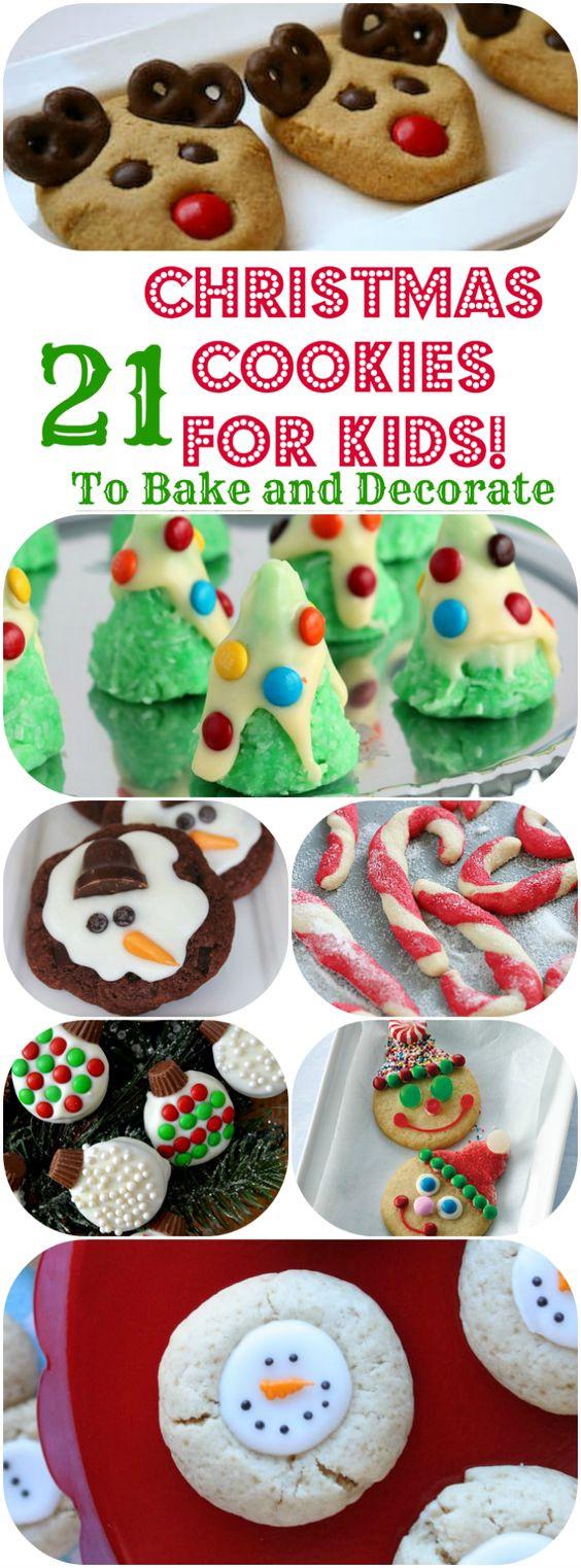 Easy Christmas Cookies Pinterest  Cookies for kids Christmas cookies and Easy christmas